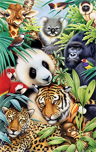 SUNSOUT INC Animal Magic 100 pc Jigsaw Puzzle]()
