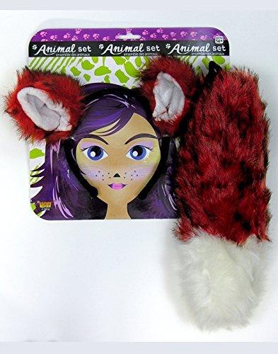 Forum Novelties Women's Fox Ears and Tail Set, Multi, One - In Forum The Shops