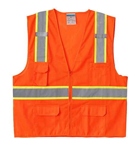 Orange Reflective Mesh Vest - 1