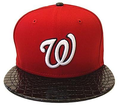 Washington Nationals New Era 59Fifty Crocodile Run Snapback Cap Hat Red Black