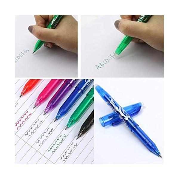 Penna cancellabile da 0,5 mm, penne pilota a sfera in inchiostro gel a cancelleria per scuola, ufficio 5 spesavip