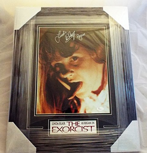Linda Blair Signed / Autographed and Framed Regan from The Exorcist 11x14 Photo Inscribed Regan ..JSA COA (2) -
