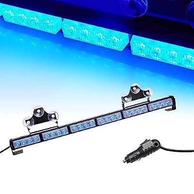 "V-SEK 24 LED 27"" Hazard Emergency Warning Tow Traffic Advisor Flash Strobe Directional Light Bar (Blue): Automotive"