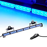 "V-SEK 24 LED 27"" Hazard Emergency Warning Tow Traffic Advisor Flash Strobe Directional Light Bar (Blue)"