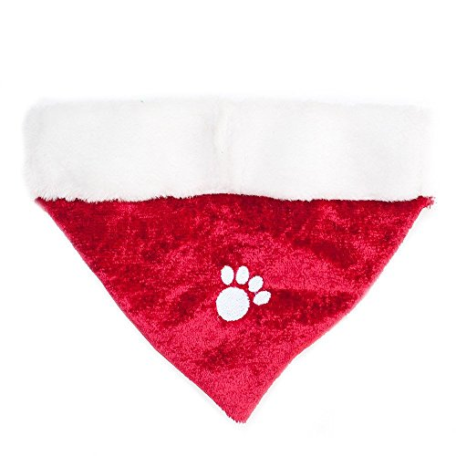 ZippyPaws Holiday Paw Bandana - Christmas Dog Accessory (3 Sizes) (Large)