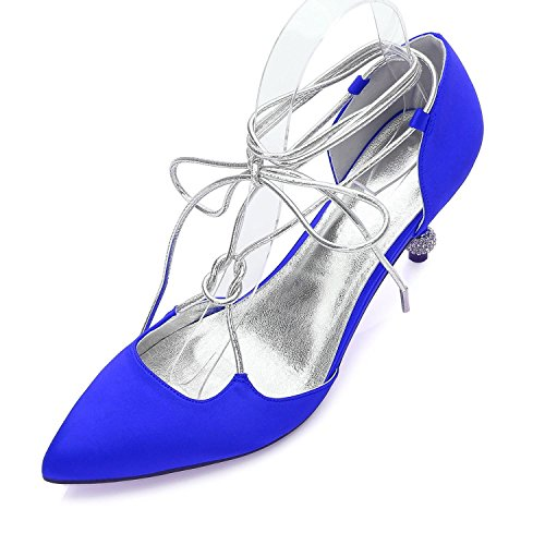 Mujer Vestido L Boda Blue Y Zapatos Champagne Noche Summer Comfort 27 Para yc Fiesta Satin 17767 Spring De nqr7xgXTwq
