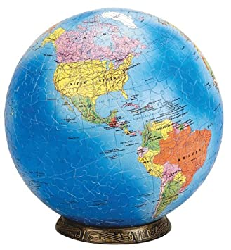 Amazoncom Esphera Pieces World Globe Political Map - World globe map