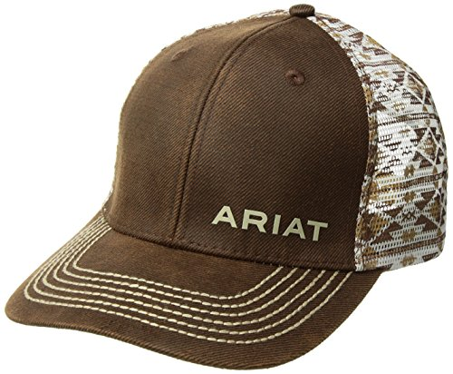 - Ariat Men's Oil Aztec Print Mesh Cap, Brown, One Size