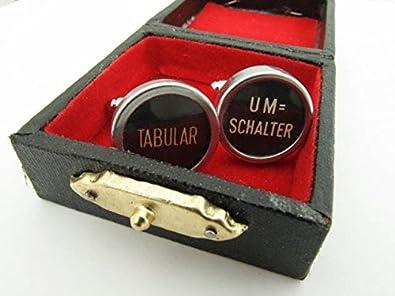 miniblings Interruptor Gemelos de la máquina de Escribir tablatura Gran SWZ: Amazon.es: Joyería