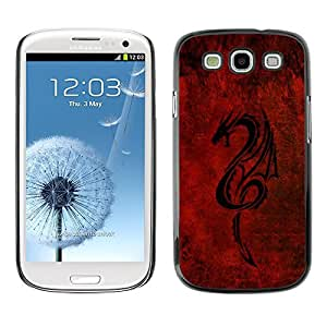 GagaDesign Phone Accessories: Hard Case Cover for Samsung Galaxy S3 - Red Tribal Dragon