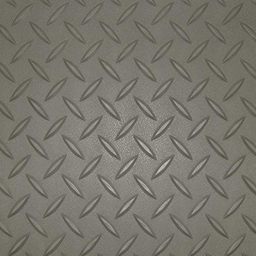 RoughTex Diamond Deck 85724 Pewter Textured Roll Out Garage Floor Mat, Various Sizes Available by Diamond Deck (Image #1)