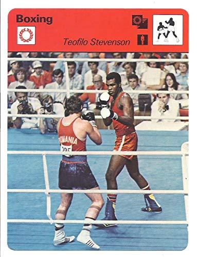 TEOFILO STEVENSON 1977 Sportscaster Series 2#223 Card Cuba Olympic Boxing (Boxing Card 1977)