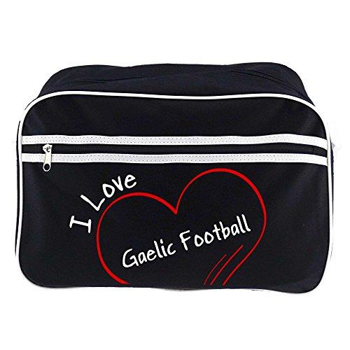 Moderno Retrotasche Adoro Il Gaelico Football Schwarz