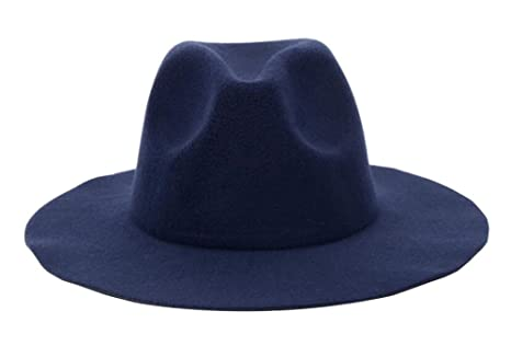 Image Unavailable. Image not available for. Color  East Majik Dark Blue Wide  Brim Fedora Hat b9ab5ccc0c6