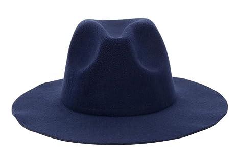 Amazon.com  East Majik Dark Blue Wide Brim Fedora Hat  Sports   Outdoors a907d7754a5