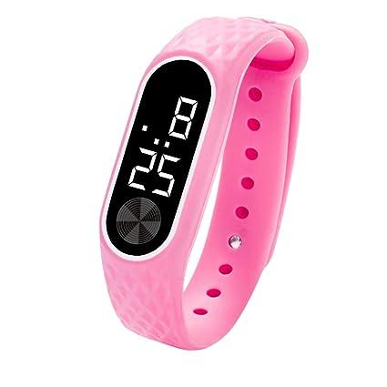 Reloj digital LED para niños, pulsera de reloj para estudiantes, gel de sílice,