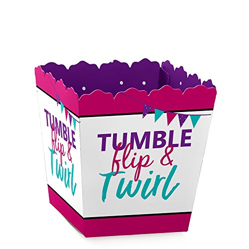 Tumble, Flip & Twirl - Gymnastics - Party Mini Favor Boxes - Birthday Party or Gymnast Party Treat Candy Boxes - Set of 12