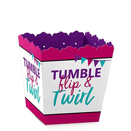 Gymnastics Party Favor Box - Tumble, Flip & Twirl - Gymnastics - Party Mini Favor Boxes - Birthday Party or Gymnast Party Treat Candy Boxes - Set of 12