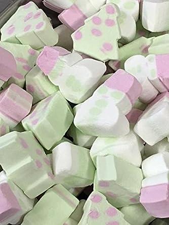 christmas tree snowmen marshmallows mallows 1kg bag - Christmas Marshmallows