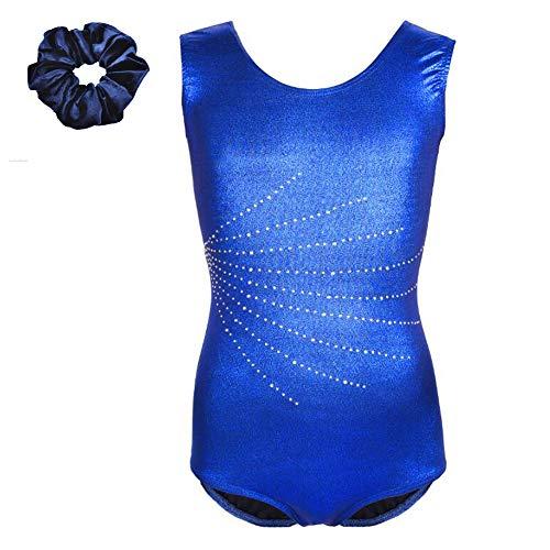 - Tigerhu Leotards for Girls Gymnastics Athletic Sparkly Dancewear Activewear, Blue 6