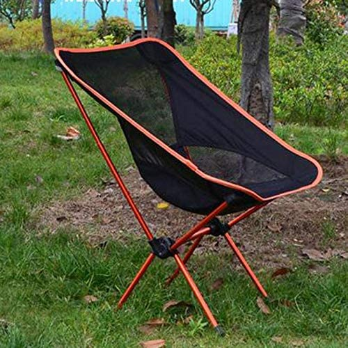 ERFHJ Outdoor Beach chair For Fishing BBQ Camping Portable Folding Chair Seat Stool Fishing Camping Hiking Garden Chair,03 02