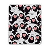 My Little Nest Warm Throw Blanket Cute Panda Lightweight Microfiber Soft Blanket Everyday Use for Bed Couch Sofa 50'' x 60''