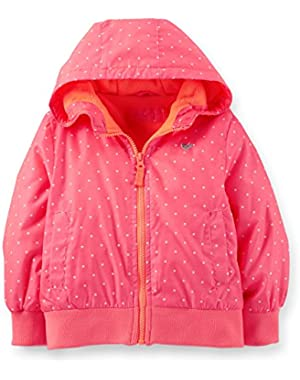 Baby Girls' Fleece-lined Print Bomber Jacket