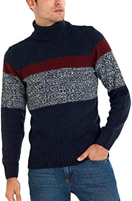 LC WAIKIKI gruby kołnierz męski sweter z dzianiny Slim Fit: Odzież