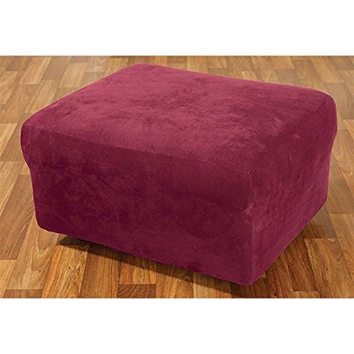 Stretch Suede Ottoman Cover Review