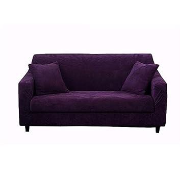 Amazon Com Plush Sofa Cover 1 Piece Surefit Stretch Sofa Slipcovers
