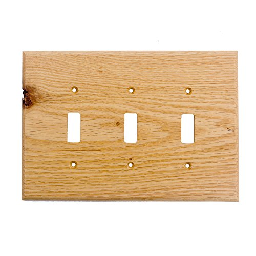 - Sierra Lifestyles Traditional Switch Plate, 3 Toggle, Red Oak