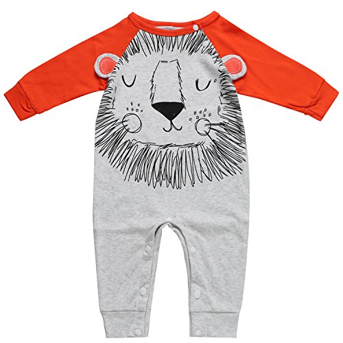 Baby Boys Animal Lion Long Sleeve Romper 0 3 Months Baby
