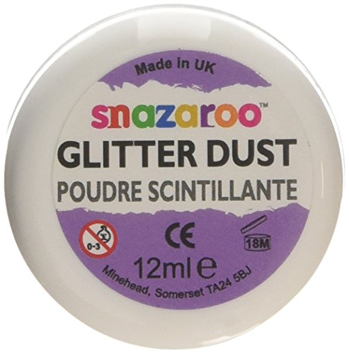 Snazaroo Face and Body Paint Glitter Dust, 12ml, - Pitch Black Lenses Contact