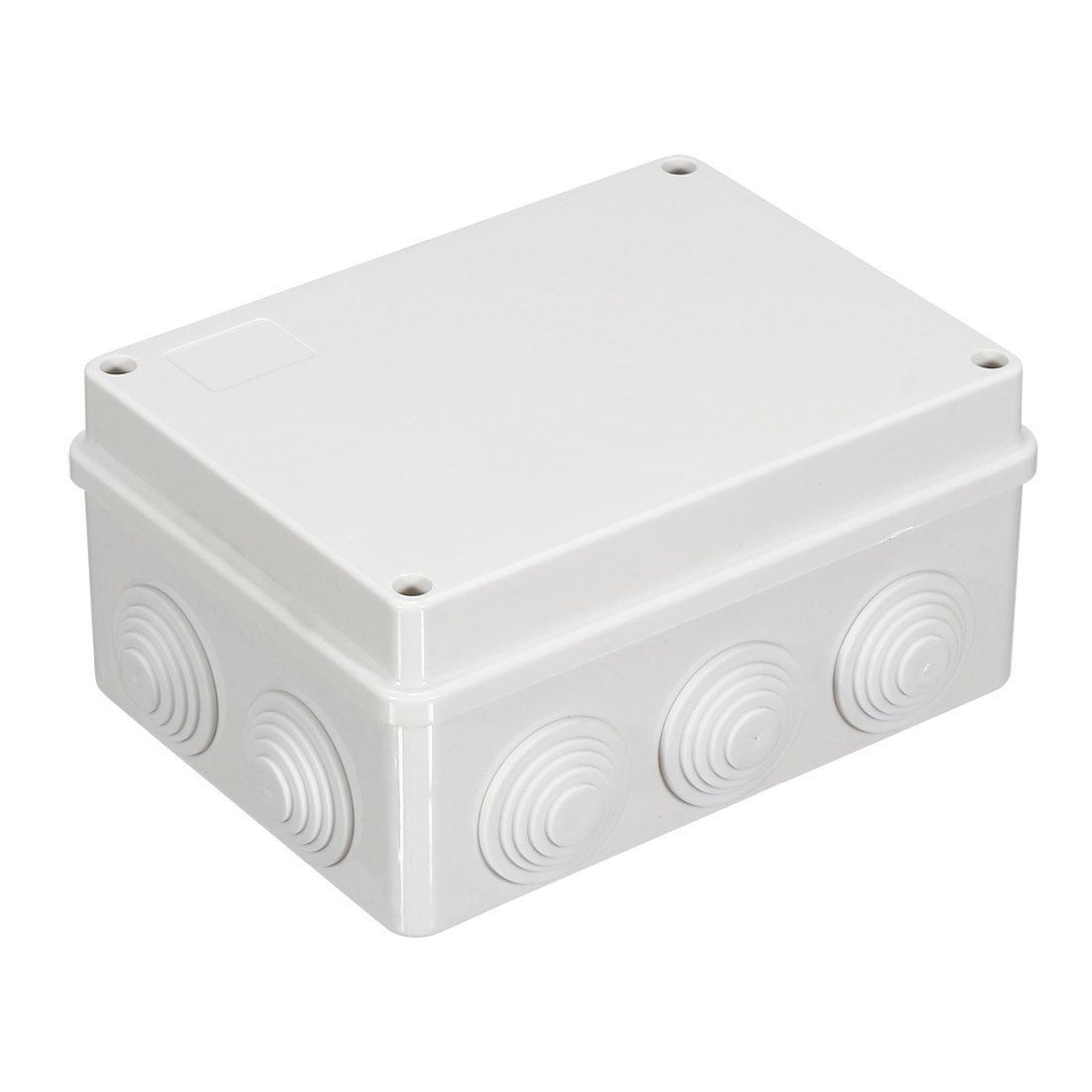 white abs ip65 waterproof electrical junction box case 200x200x80mmwhite abs ip65 waterproof electrical junction box case 200x200x80mm amazon com