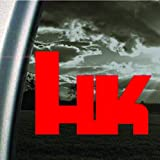 HK HECKLER And KOCH Red Decal Car Truck Window Red Sticker