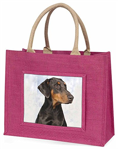 Advanta Rottweiler, deutsche Hund Große Einkaufstasche Weihnachten Geschenk Idee, Jute, Rosa, 42x 34,5x 2cm
