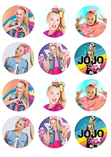Amazon Jojo Siwa One Dozen Cupcake Topper Edible Frosting Image Grocery Gourmet Food