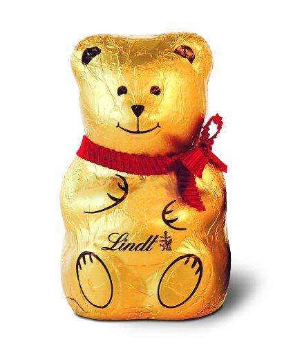 Lindt Holiday Milk Chocolate Bear, Hollow, 3.5oz,15 Count (Bear Hollow)