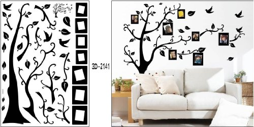 Attractive Black Photo Picture Frame Tree Vine Branch Removable Wall Decor Decal  Stickers (Size 1) Part 15