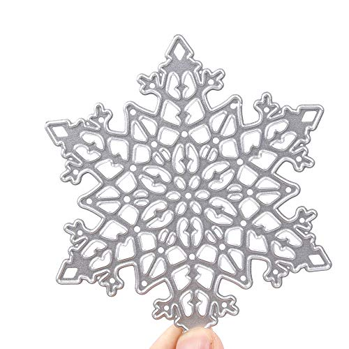 NUOMI 2 Pack Snowflakes Cutting Dies Stencils Mould Template Merry Christmas Metal Scrapbooking Die-Cuts for DIY Card Making (Metal Snowflakes White)