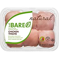 Just BARE All Natural Fresh Chicken, Hand-Trimmed, Boneless, Skinless Thighs, 1.25 lb
