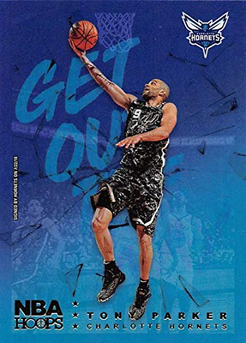 2018-19 NBA Hoops Get Out The Way Holo #10 Tony Parker Charlotte Hornets Official Panini Basketball Card ()