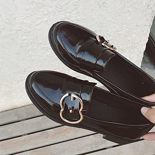 GAOLIM Una Zapatilla De Corte Bajo Los Zapatos Zapatos De Mujer Zapatos De Trabajo Negro Liso Zapatos Primavera Solo Zapatos De Mujeres Un negro