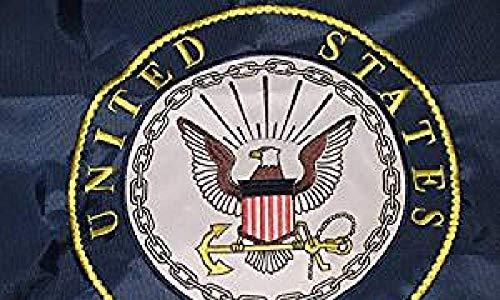 usep 2x3 Embroidered Double Sided U.S. Navy Emblem Seal Crest Solarmax Nylon Flag