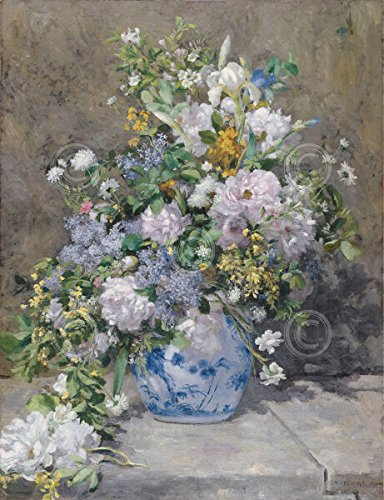 Spring Bouquet 1866 Pierre-Auguste Renoir Vintage Impressionist Flower Poster (Choose Size of (Renoir Picture)