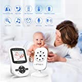 [UPGRADED VERSION] Video Baby Monitor with Digital Camera, 2.4 LCD Display, Infrared Night Vision, Temperature Monitoring, Two Way Talkback Function and Lullabies