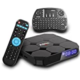 Android 7.1 TV Box, Globmall ABox A1 MAX Android TV Box with 2GB RAM 16GB ROM Amlogic Quad Core A53 Processor 64 Bits Real 4K Playing, with Mini Keyboard [2018 Model Pure Version]