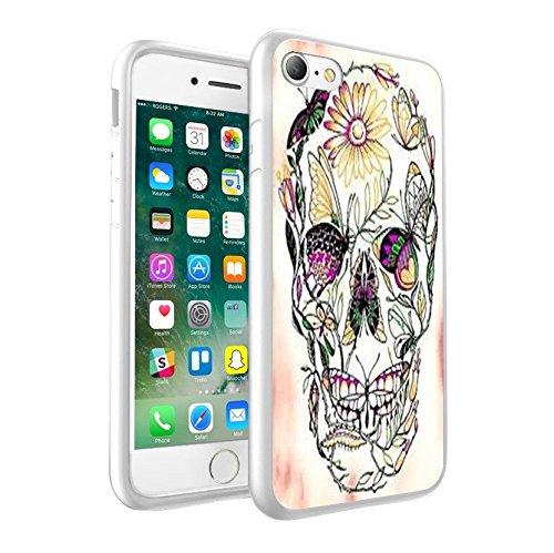 iPhone X Hülle, einzigartige Custom Design Prodective harter zurück dünner dünner Fit PC Bumper Case Kratzfeste Abdeckung für iPhone X - Schädel-Entwurf 0011