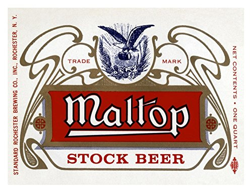Maltop Stock Beer - Global Gallery Vintage Booze Labels Maltop Stock Beer-Giclee on Paper Print-Unframed-22 1/2 x 30 in Image Size, 22 1/2