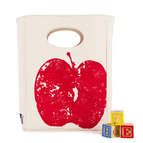 Fluf Red Apple Organic Lunch Bag